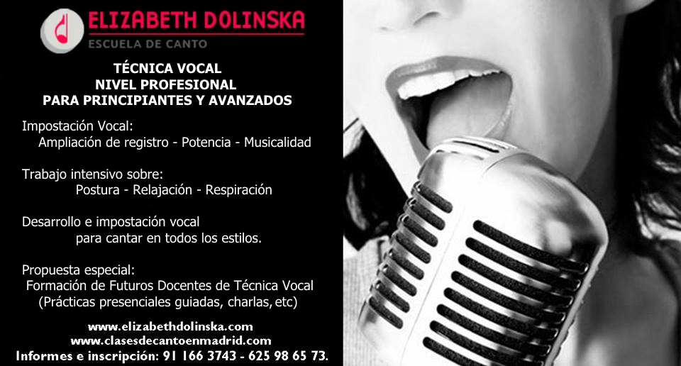 cartel tecnica vocal