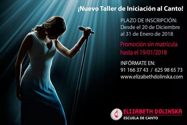 Taller de iniciación al canto en Madrid