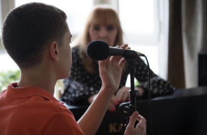 El éxito del cantante. Aprender canto.