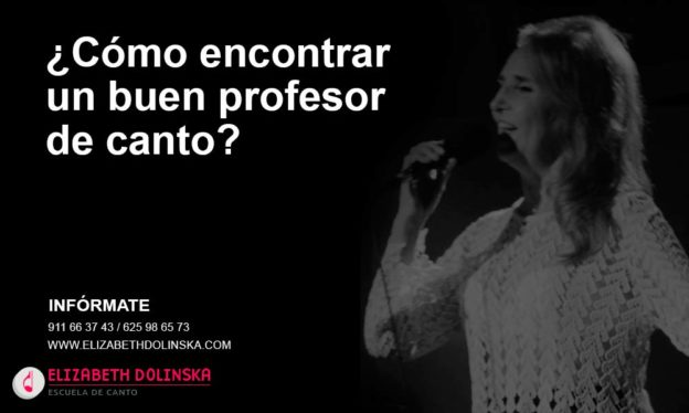 Cómo encontrar un buen profesor de canto
