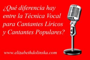 diferencia tecnica vocal canto lirico canto popular