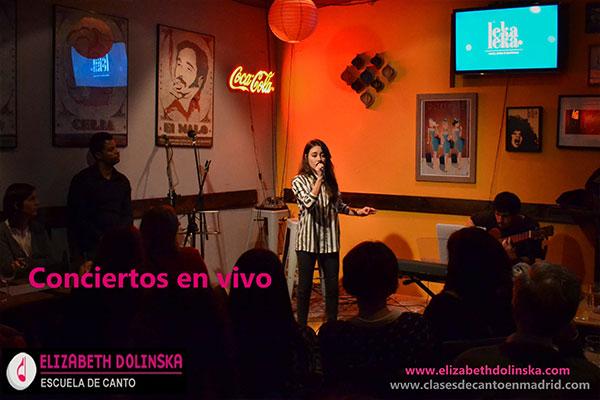 Escuela de Canto en Madrid Concierto