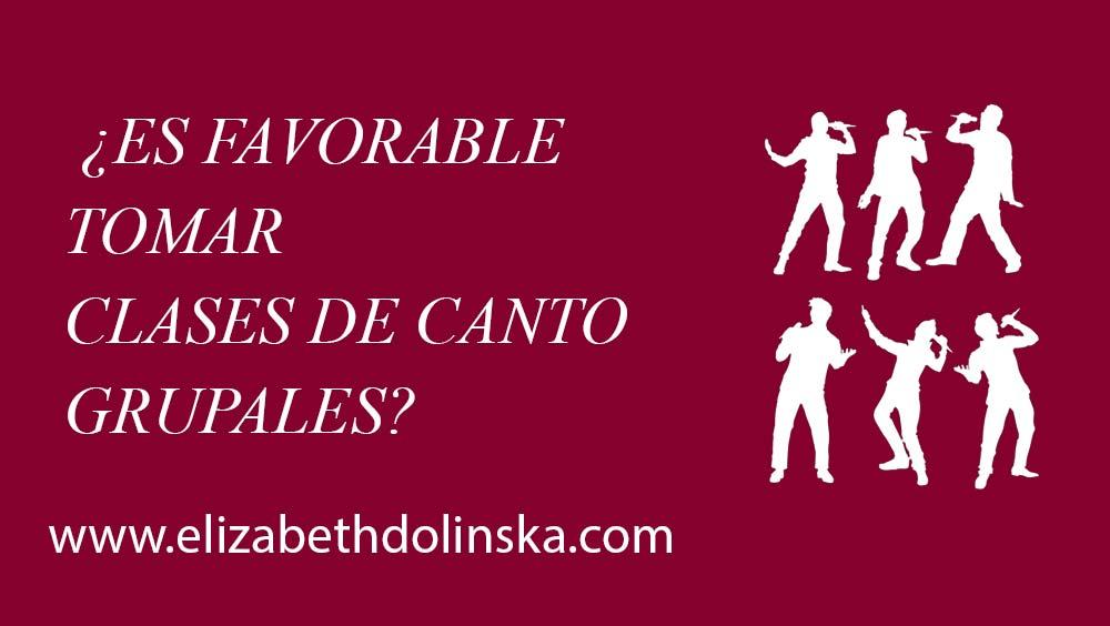 Clases de Canto Grupales